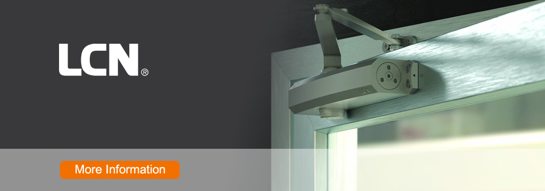 LCN sets industry standards for quality, durability and innovation in premium door closers. LCN offers a broad line of products, including heavy-duty closers for interior and exterior doors, with fire/life safety closers/holders and high security manual closers available in most configurations.
