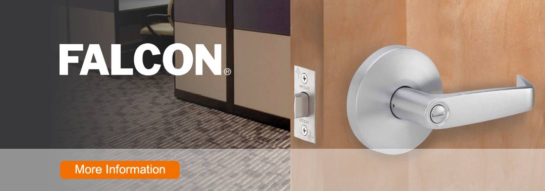 For over 40 years Falcon Lock has been manufacturing reliable lock hardware. Falcon has one of the most extensive lines available on the market today- with a choice of functions and applications to meet and outreach the most demanding requirements.