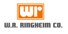 W.R. Ringheim Company Stocks Commercial Door Hardware Logo